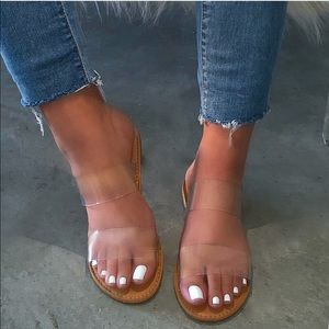 Shoes - Clear Double Band Sandals